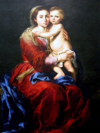 virgen del rosario de Murillo